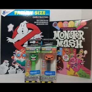 Monster Mash & Ghostbusters Cereal w/ 2 PEZ *New*